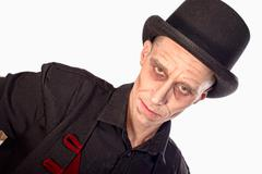 Man dressed up as vampire for the halloween Stock Photos