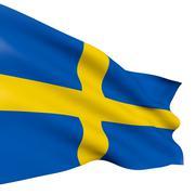 Kingdom of sweden flag Stock Illustration