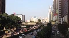 Traffic downtown HongKong Stock Footage