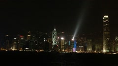HongKong Skyline light show Stock Footage