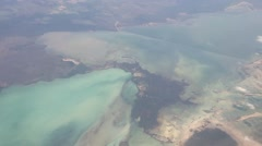 Stock Video Footage of Flying above the Caribbean islands
