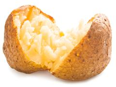 plain baked potato - stock photo
