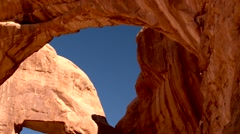 Arches National Park Double Arch Stock Footage