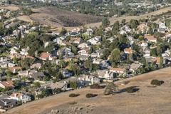 Edge of suburbia Stock Photos