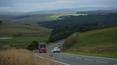 Traffic in Scotland 2 Stock Footage