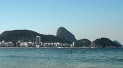 Stand Up Paddle at Copacabana Beach - stock footage