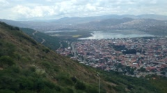 View from a cable car in Cochobamba, Bolivia Stock Footage