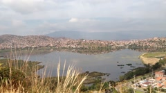 Landscape Pan from Cochobamba city Bolivia Stock Footage