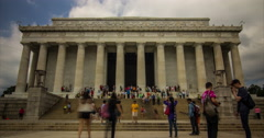 Lincoln Memorial Wide Stock Footage