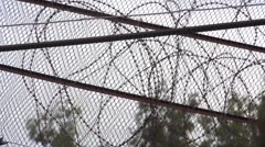 Prison Barbed Wire Stock Footage