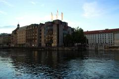 BCGE & HSBC in Geneva Stock Footage