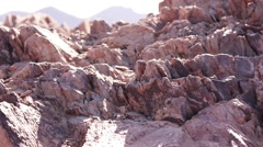Panoramic view of nice colorful rocks Stock Footage