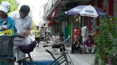Jiayuguan Street Gansu Province China 81 vendor Stock Footage
