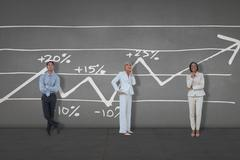 Composite image of business people standing Stock Illustration