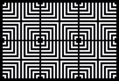 Repeating square background black and white Stock Illustration