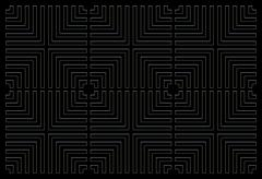 Repeating square background black Stock Illustration