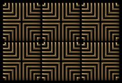 Repeating square background copper on black Stock Illustration