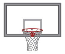 Basketball Net With Backboard - stock illustration