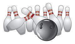 Stock Illustration of Bowling a Strike