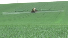 CULTIVATING CORN IN hOLLAND - stock footage