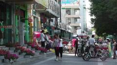 Jiayuguan Street Gansu Province China 98 Stock Footage
