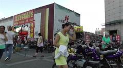 Jiayuguan Street Gansu Province China 103 - stock footage