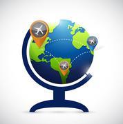 Business transportation atlas map illustration Piirros