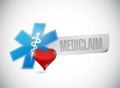 Stock Illustration of medical claim sign illustration design