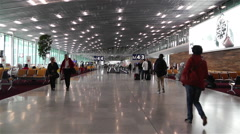 Paris Charles De Gaulle International Airport 3 terminal interior Stock Footage