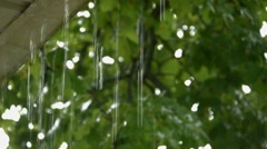 Video of Rain fall and clear sky's with sound Stock Footage