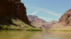 Grand Canyon View From Colorado River Stock Footage