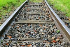 Old Rail Track - stock photo