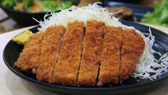 Pork Cutlet Japanese food Stock Footage