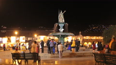Cuzco - night time lapse - Plaza de Armas, Cusco, Peru - 4K Stock Footage