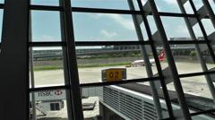 Shanghai Pudong International Airport 12 Stock Footage
