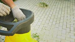 Garden shredder in the work Stock Footage