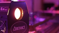 Disco Light Close Up Party Stock Footage