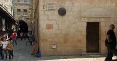 Jerusalem 4K Via Doloroza st V wide  24P Stock Footage