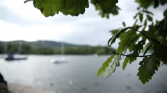 Windermere lake in England, Cumbria UK, GB, Britain Focus Pull - stock footage