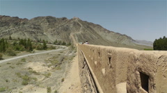 The Great Wall of China in Jiayuguan Gansu China 1 Stock Footage