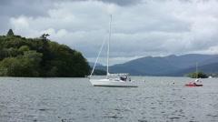 Windermere lake sailing yachts Stock Footage