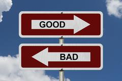 good versus bad - stock illustration