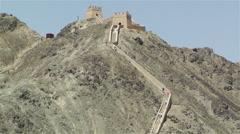 The Great Wall of China in Jiayuguan Gansu China 3 Stock Footage