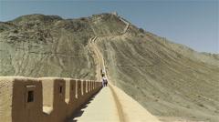 The Great Wall of China in Jiayuguan Gansu China 4 Stock Footage