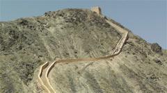 The Great Wall of China in Jiayuguan Gansu China 5 - stock footage