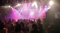 Rock Concert Begins Stock Footage