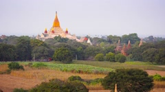 View to the ananda temple, located in bagan, myanmar Stock Footage