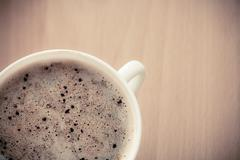 Beverage. cup of hot drink coffee with froth. Kuvituskuvat