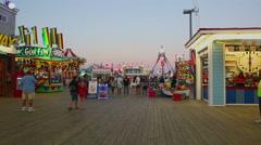 Casino Pier Seaside Heights Park NJ HD Stock Footage