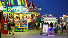 Casino Pier Seaside Heights Park NJ HD - stock footage